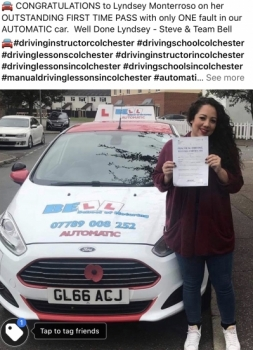 Fantastic FIRST TIME PASS in our AUTOMATIC car with ONE fault for Instructor Steve