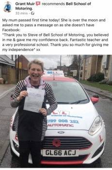 Another AMAZING Review for Instructor Steve after his ZERO faults PASS