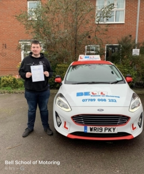 Another FIRST TIME PASS for instructor Matt with only FIVE minor faults