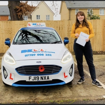 A FANTASTIC PASS for instructor NATASHA with only ONE fault....