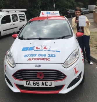 🌈 KEY WORKER 🌈 Yvette PASSED in our Automatic car with only FOUR faults with instructor Steve