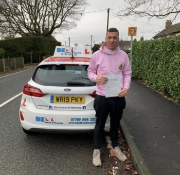 Another GREAT FIRST TIME PASS for instructor Matt with only THREE faults