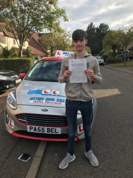 SECOND MEMBER OF FAMILY TO PASS FIRST TIME