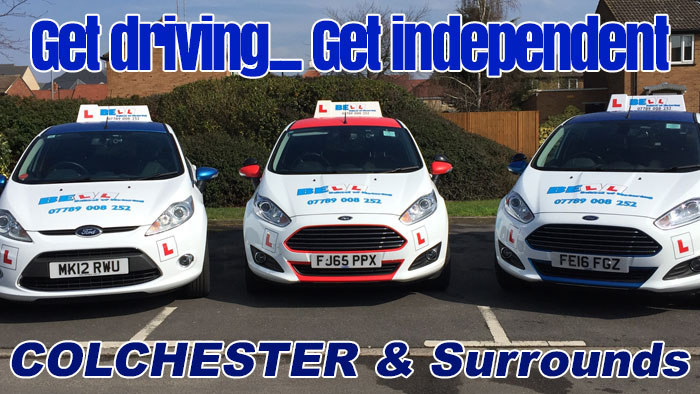 get driving lessons Colchester with Bell School of Motoring